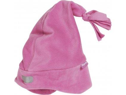 Fleecová čiapka ružová
