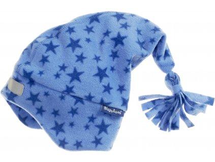 Fleecová čiapka hviezdičková modrá