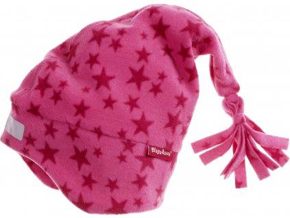 Fleecová čiapka hviezdičková ružová