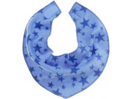 Fleecová šatka na krk hviezdičková modrá