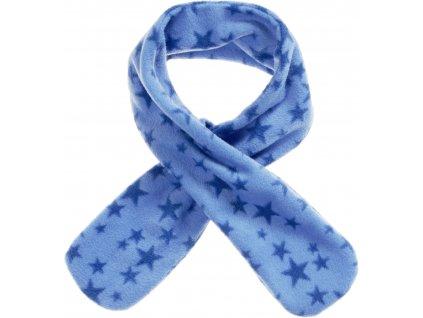 Fleecový prevliekací šál hviezdičkový modrý
