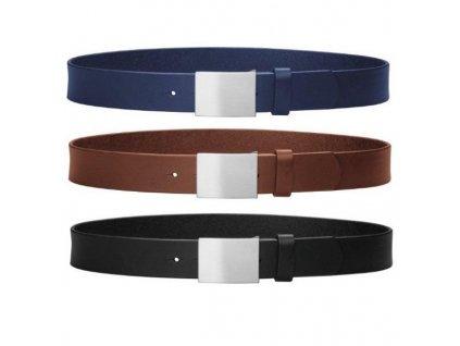 PLAYSHOES Kožený opasok 3 farby, veľ. 55-75 cm, farba: modrá