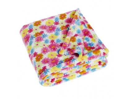PLAYSHOES Fleecová deka Kvetiny 75x100