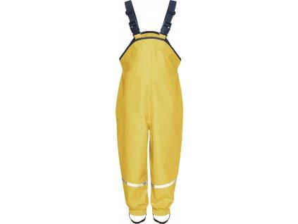 Nohavice do dažďa s bavlnenou podšívkou žlté