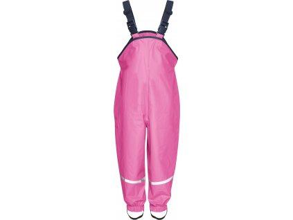 Nepremokavé nohavice s bavlnenou podšívkou tmavoružové