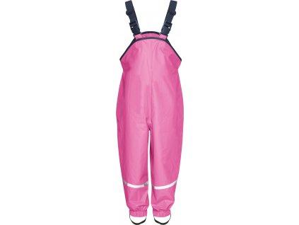 Nepremokavé nohavice na traky tmavoružové