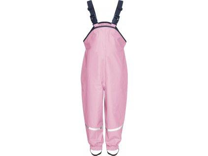 Nepremokavé nohavice na traky svetloružové