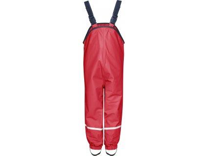 Nohavice do dažďa s fleecovou podšívkou červené