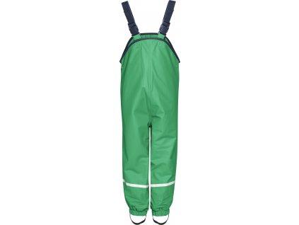 Nohavice do dažďa s fleecovou podšívkou zelené