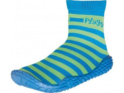 Aqua ponožky zelený pásik