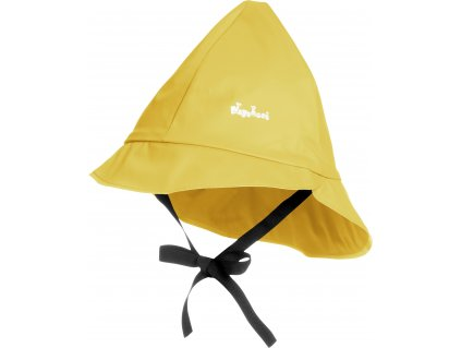 Klobúčik do dažďa s bavlnenou podšívkou žltý