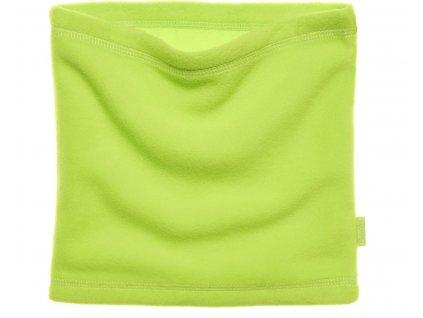 Fleecový nákrčník svetlozelený