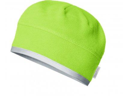Fleecová čiapka pod prilbu zelená