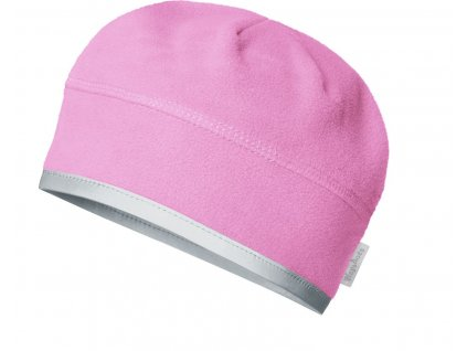 Fleecová čiapka pod prilbu ružová