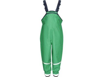 Nepremokavé nohavice na traky zelené
