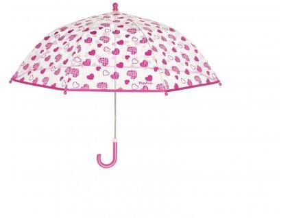 Detský dáždnik Srdiečka