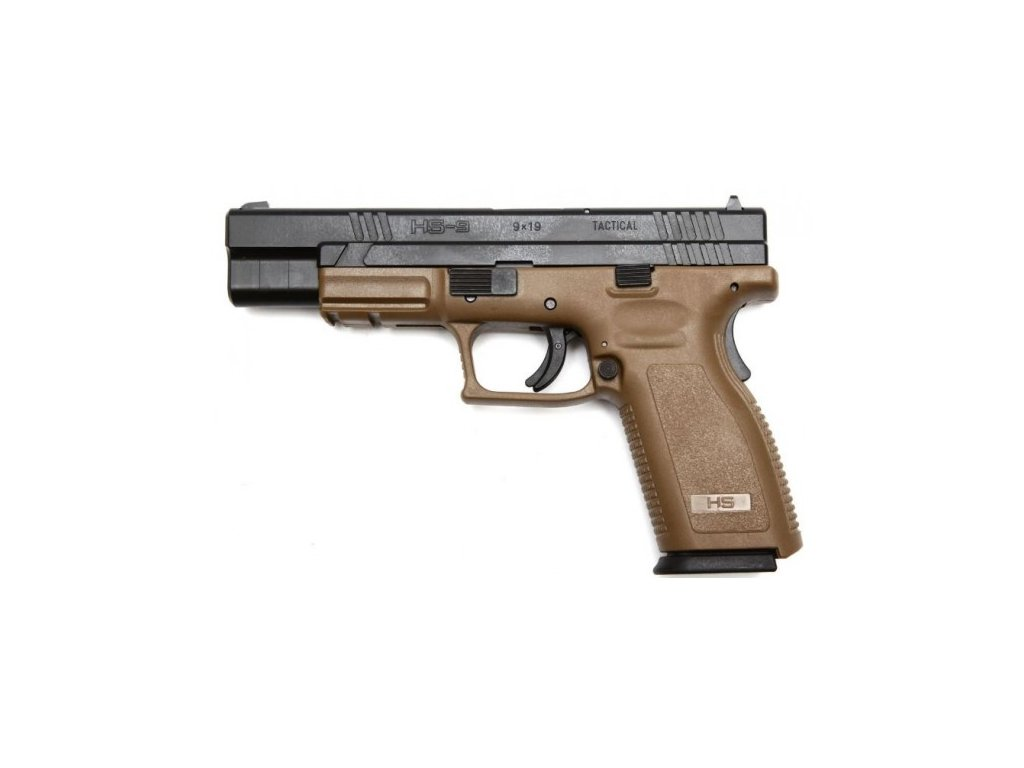 hs 9 tactical 9x19 brown pistole