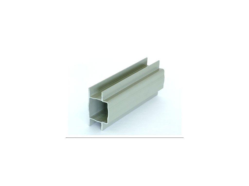 PVC DRŽIAK PODHRABOVEJ DOSKY 25 cm - SIVÝ PRE STĹPIKY 60 x 60 mm
