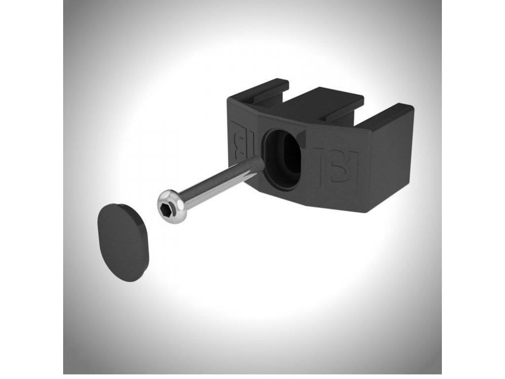ÚCHYT PRE PANELY 3D - ČIERNY / ODBER OD 100 ks /