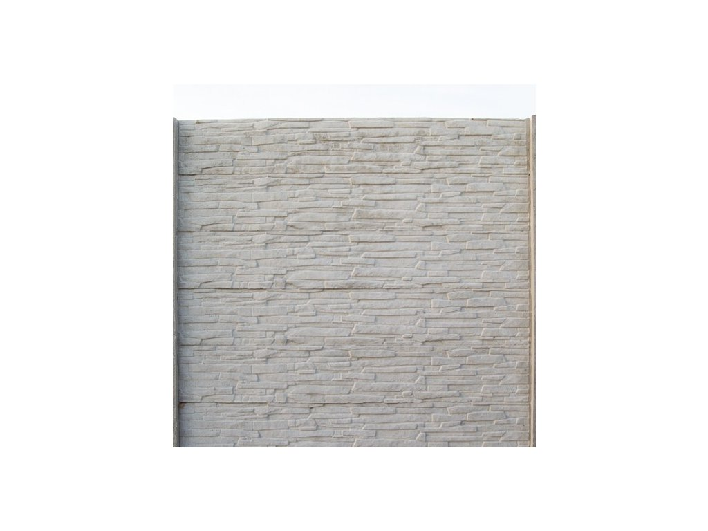 BETÓNOVÁ PLOTOVÁ DOSKA OBLÚKOVÁ, OZDOBNÁ 60 x 200 x 4.5 cm