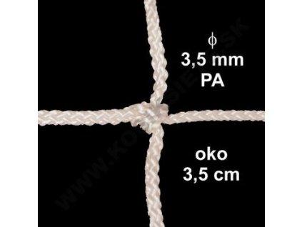 OCHRANNÁ SIEŤ Z 3.5 mm PA ŠNÚRY, OKO 3.5 cm, BIELA FARBA, 1 m2
