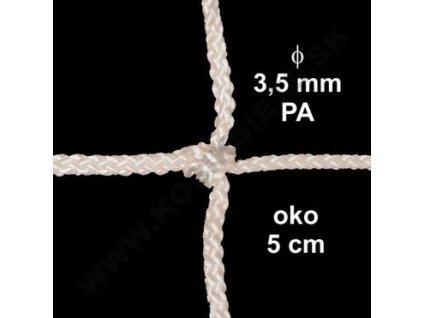 OCHRANNÁ SIEŤ Z 3.5 mm PA ŠNÚRY, OKO 5 cm, BIELA FARBA, 1 m2