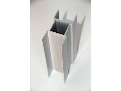 PVC DRŽIAK PODHRABOVEJ DOSKY 50 cm - SIVÝ PRE STĹPIKY 38 mm