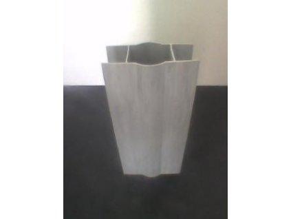 PVC DRŽIAK PODHRABOVEJ DOSKY 25 cm - SIVÝ PRE STĹPIKY 48 mm