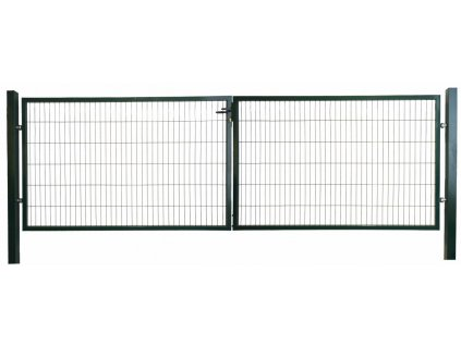DVOJKRÍDLOVÁ BRÁNA OPTIM - ZELENÁ, 1250 x 3600 mm