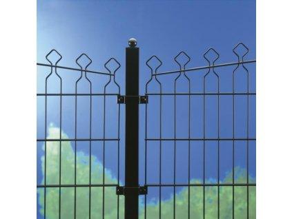 DEKORATÍVNY PANEL DECOFOR® ARCO - ČIERNY, 886 x 2015 / 200 x 65 / 6.0 mm
