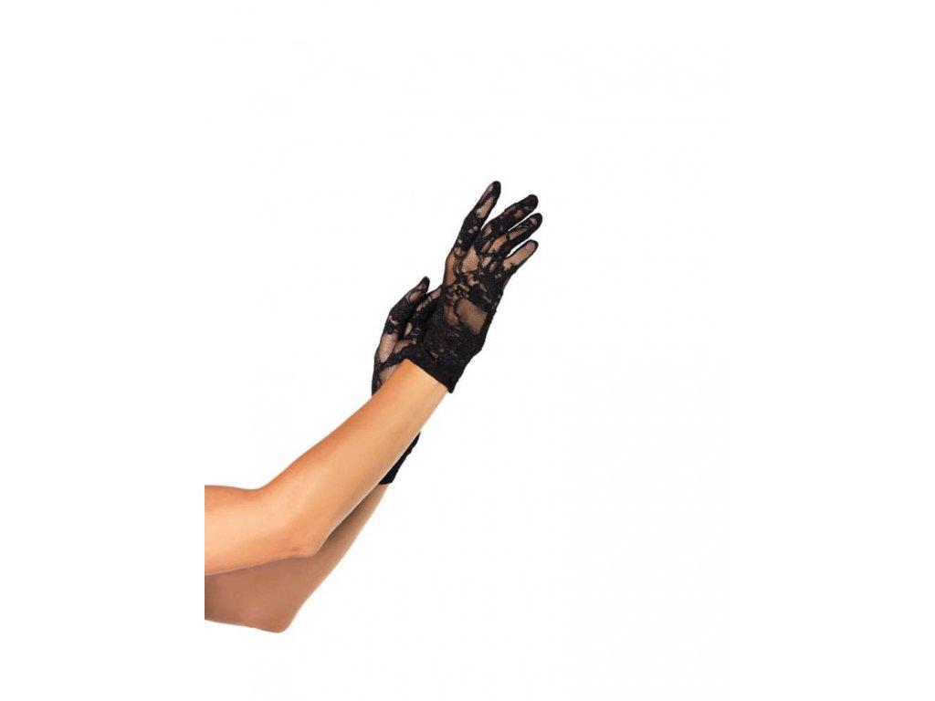 . ™˙ DE Krajkové rukavičky černé