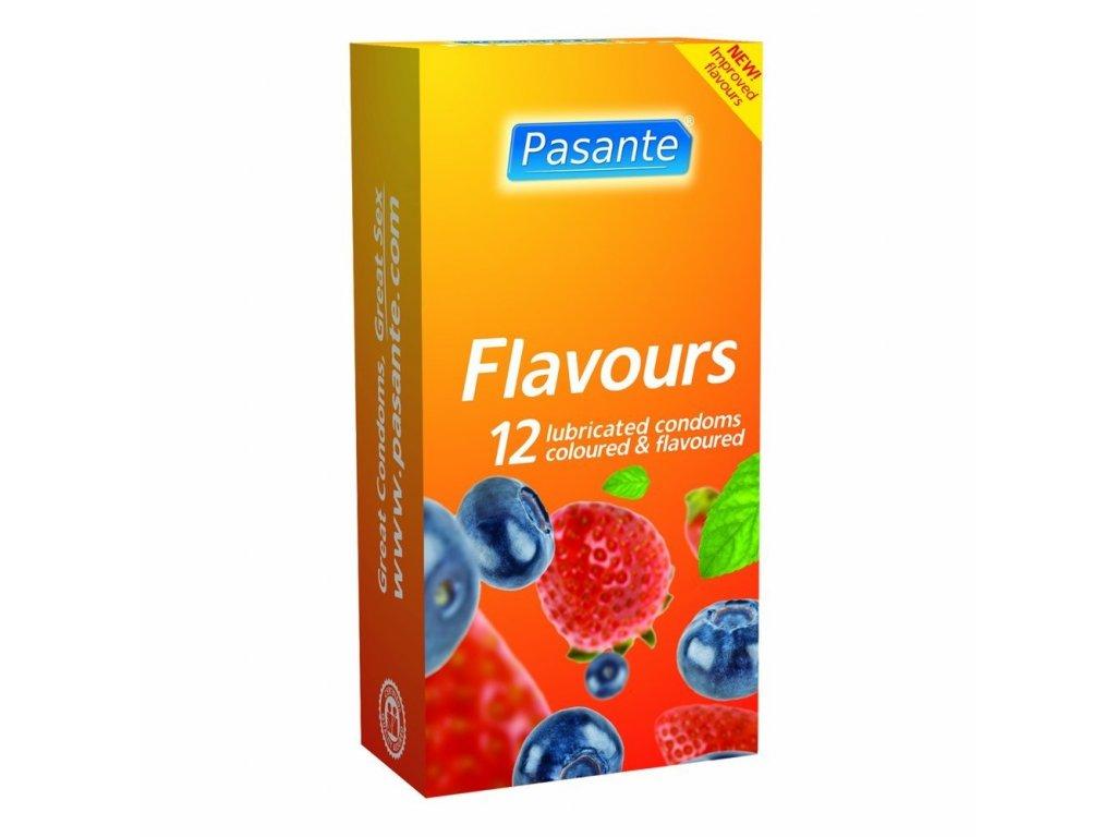 pasante kondomy flavours 12 ks img Pasante Flavours 12ks fd 3