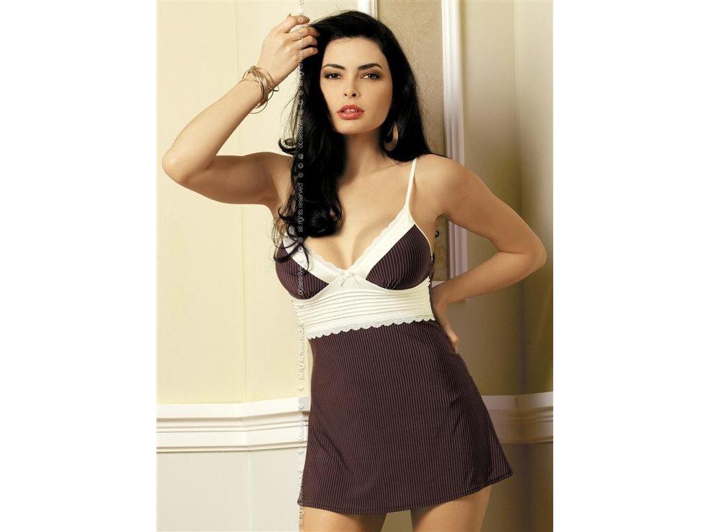 # Košilka Choco chemise - Obsessive (Barva original, Velikost S/M)