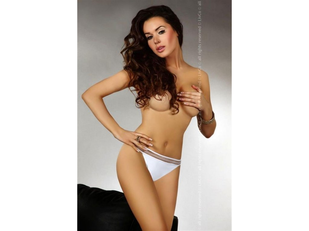 # Tanga Mosca - Livia Corsetti (Barva Bílá, Velikost XL)
