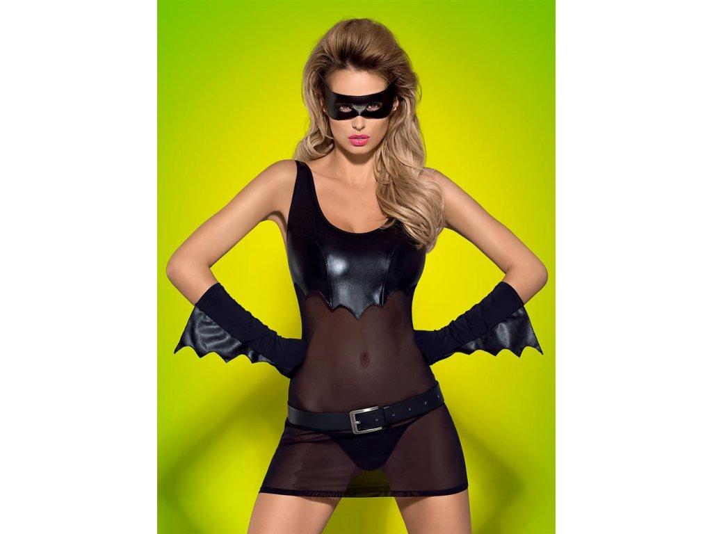 # Sexy kostým Batty - Obsessive (Barva Černá, Velikost L/XL)