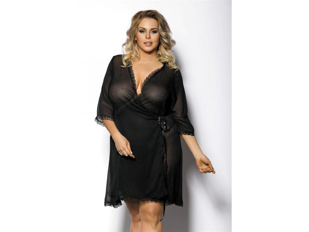 # Župan Gorgeous+ Islla - Anais (Barva Černá, Velikost 5XL/6XL)