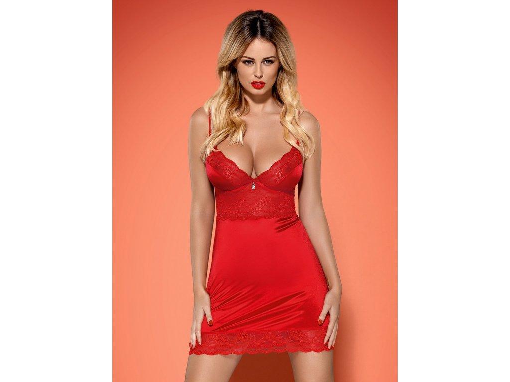 # Košilka Lovica chemise - Obsessive (Barva Červená, Velikost XXL)