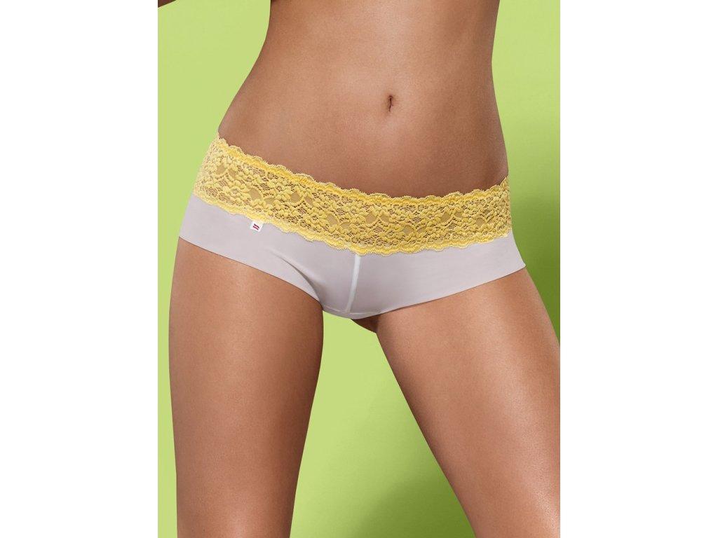 # Kalhotky a tanga Lacea shorties a thong duo pack - Obsessive (Barva žlutá, Velikost L/XL)