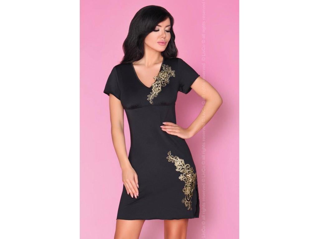 # Okouzlující košilka Medea - LivCo Corsetti (Barva Černá, Velikost L/XL)