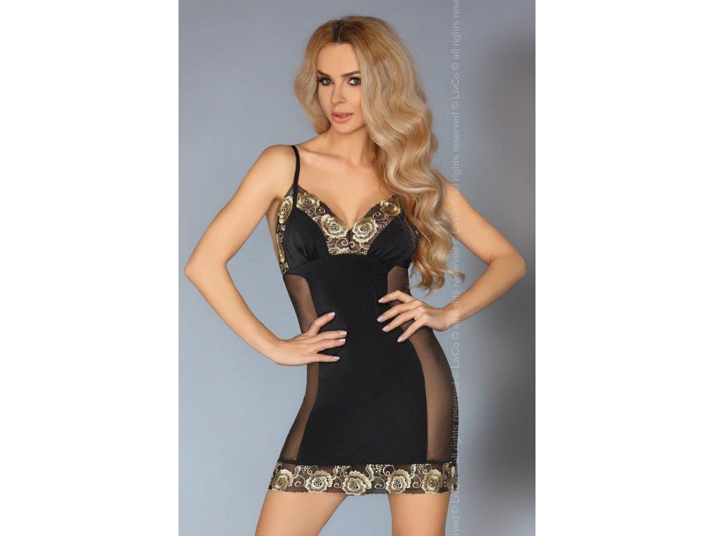 # Sexy košilka Aliora - LivCo Corsetti (Barva Černá, Velikost L/XL)