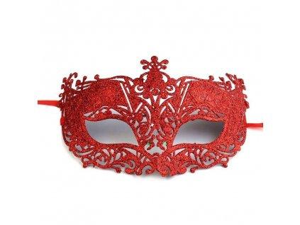 karnevalova maska plastova krajka s glitry cervena img INSP 20389 fd 3