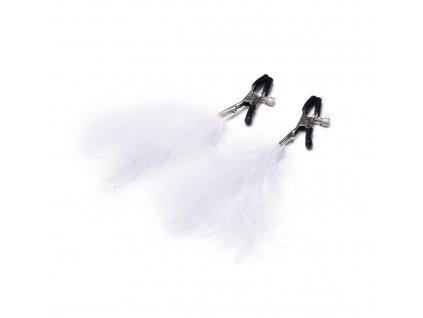 white feather nipple clamps