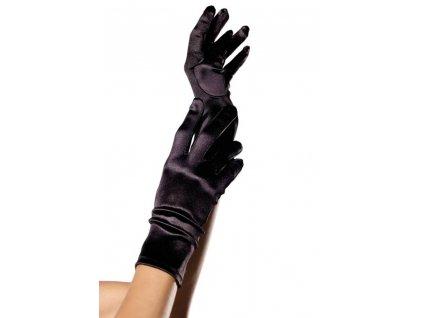. ™˙ DE Saténové rukavice Wrist Length Satin Gloves černé