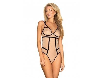 # Elegantní body Nudelia teddy nude - Obsessive