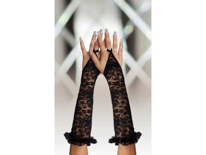 . ™˙ DE Krajkové návleky na ruce černé