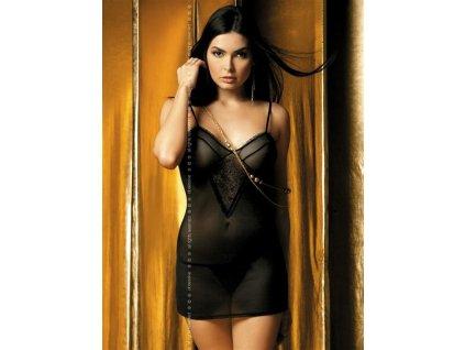 # Košilka Carat chemise - Obsessive (Barva Černá, Velikost S/M)