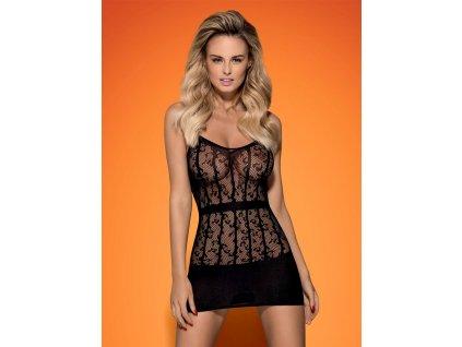 # Košilka D605 dress - Obsessive (Barva Černá, Velikost S/M/L)