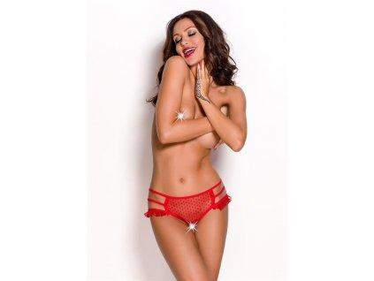 # tanga Keira open panty - Anais (Barva Červená, Velikost XL)