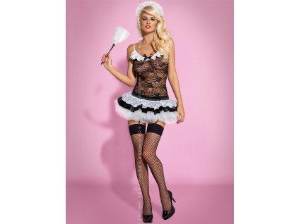 # Sexy kostým Housemaid - Obsessive (Barva Černá, Velikost L/XL)