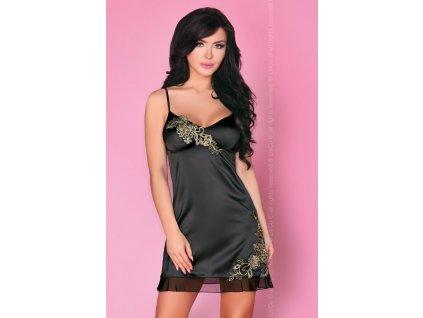 # Smyslná košilka Rusudani - LivCo Corsetti (Barva Černá, Velikost L/XL)